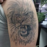 lion tattoos, tattoos for men, tattoos in essex, tattoo studio