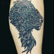 lion tattoo, complicated tattoos,