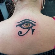 eye of houris tattoo egyptian tattoos, eye tattoos, back tattoos, tattoos for women,