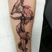 dragon tattoo, sword tattoo, dagger tattoo, sketch tattoo, custom tattoos, cool tattoos