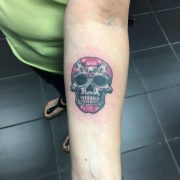 sugar skull tattoos, tattoos for women, tattoos for men, tattoos in south woodford