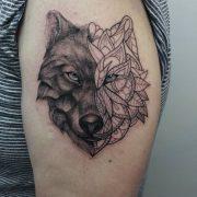 wolf tattoo, tattoo, animal tattoo, mandala tattoo, mandala animal