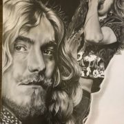 tattoo shop, Barkingside, Illford, piercings, artwork, drawings, commissions, portraits, Led Zeppelin, Robert plant