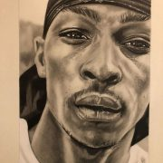 Jme portrait drawing graphite commission a3 realism grime london