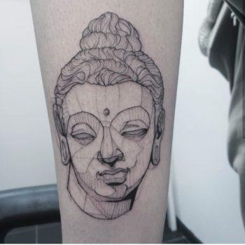 Line tattoo, sketch tattoo done at prophecy tattoo studio
