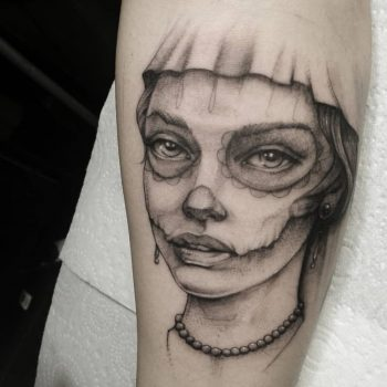 tattoo, girl tattoo, day of the dead
