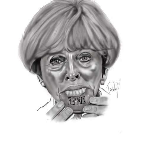 Natasha Jackson, Theresa May, portrait tattoo artist, tattoos essex, Barkingside , black and grey portraits