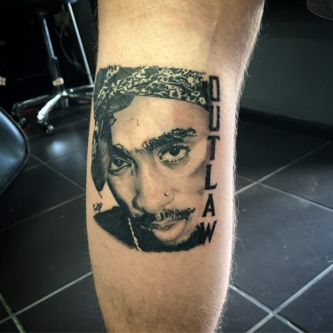Natasha Jackson, 2pac tattoo, portrait tattoo artist, tattoos essex, Barkingside , black and grey portraits